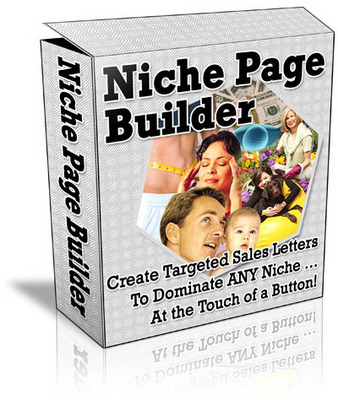 Product picture **Niche Page Builder**Software with Master Resell Rights