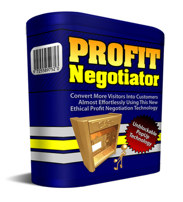 Product picture **Profit Negotiator**More Profits With Strategic Popups-Mrr