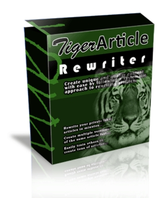 Product picture *Tiger Article Rewriter Software*Easily Write Unique Content