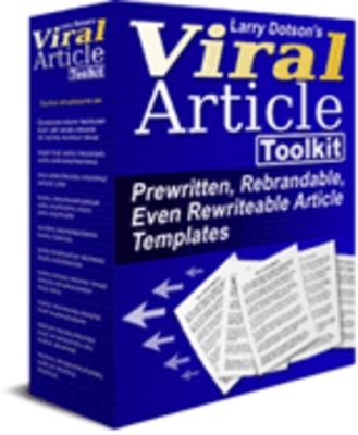 Product picture *Viral Article Toolkit* Prewritten, Rebrandable Articles-MMR