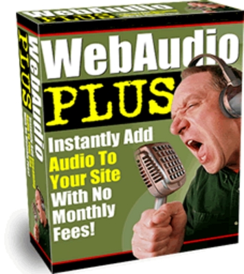 Product picture **Web Audio Plus**Streaming Audio Software w/MRR